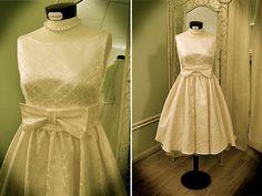 50's 60's style wedding dress by www.nadiamanzato.com