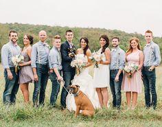 The mix of #GreyRidge, #HintOfMint, & #Blush in this wedding is beautiful! | Justin & Mary Photography via @sharon murphy Weddings Magazine