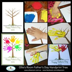 {FREE} Father's Day Printable- simply download, print & stamp your child's handprints :).