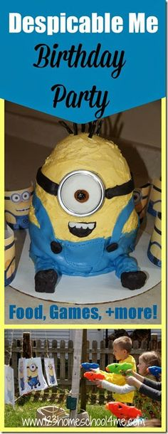 Despicable Me Minion Birthday Party for Kids