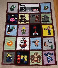 Crochet Pattern For Mario Blanket : NINTENDO BLANKET CROCHET PATTERN CROCHET