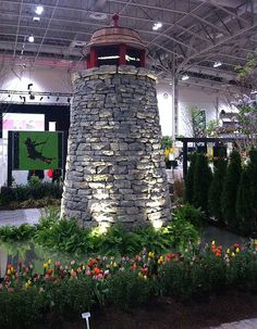 A lighthouse by Landscape Ontario at Canada Blooms 2013