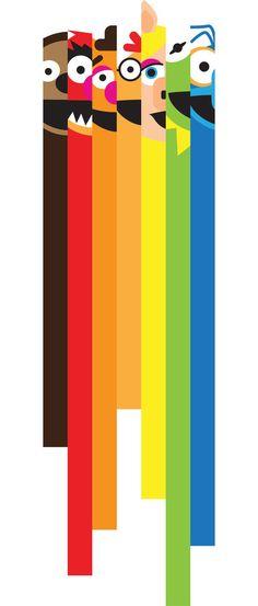 Muppetastic! muppets book art color colour colourful inspiration