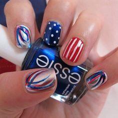 Happy Birthday America! Say it with a patriotic mani!