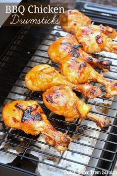Simple BBQ Chicken Drumsticks - this is one of my families favorite meals! Recipe from TastesBetterFromScratch.com #BBQHacks