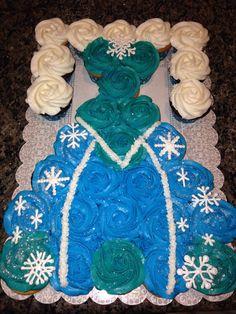 Elsa dress pull apart cupcake