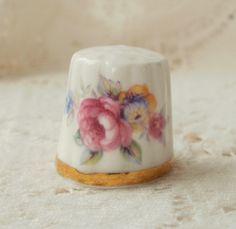 Vintage Rose Thimble by glassbeadtreasures, via Flickr