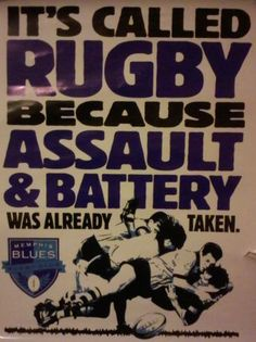 it's called rugby because...
