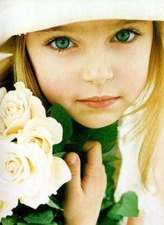 Pretty green eyes.