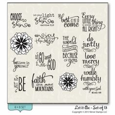 Let it Be.  Verve Stamps.