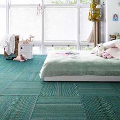 FLOR carpet design squares:  Upcycle - Teal