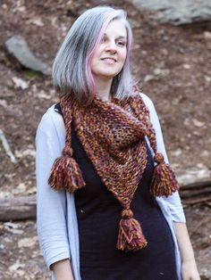 NobleKnits.com - Berroco Mojo Cass Triangle Scarf Free Knitting Pattern
