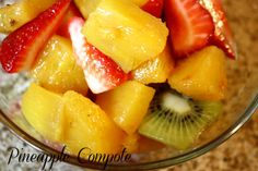Pineapple Compote ~ A Recipe A Day