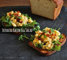 Sriracha Bacon Egg Salad Sandwich