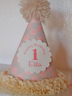 pink and gray party supplies