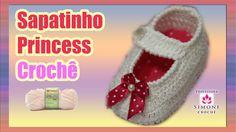 Passo a passo Sapatinho Princess em crochê - Professora Simone