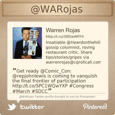 @Warren Rojas's Twitter profile courtesy of @Pinstamatic (http://pinstamatic.com)