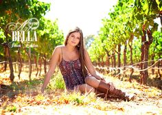 Senior Photography - Napa Valley - Vineyards - Country - High School Senior Photo Shoot - Wine Country - Grapes