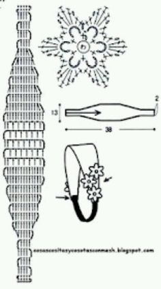 Diadema en crochet