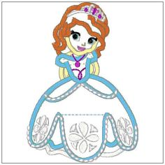 Sofia the First Princess Applique Embroidery Design in 3 Sizes - abcdesignsplus.  YES YES YES!  Love!