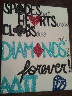 Gift Ideas | Alpha Delta Pi | ADPi diamonds are forever <> #greek #sorority #firstfinestforever diamonds are forever, poster, canvas