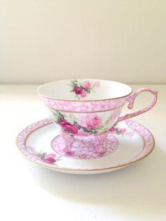 Vintage Fine Porcelain Treasures Footed Tea Cup by MariasFarmhouse, $65.00