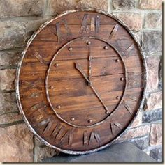 Pallet Project | Pottery Barn Knockoff Clock