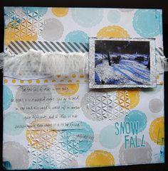 Snowfall - Scrapbook.com by Lori Wilbanks