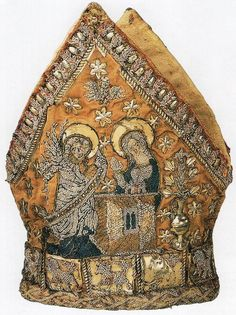 Mitre of the Bishop of Minden, Germany, ca. 1400.