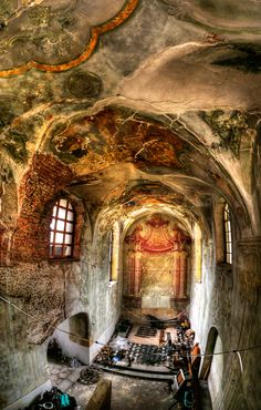 Abandoned Castle somewhere in the South Poland