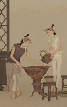 孙郡是国内知名的时尚摄影师之一, 他的摄影作品中的古典气息和中国风深受各大服装品牌的青睐,《茶经》系列是他为上海本土设计师品牌LA VIE拍摄的新作。