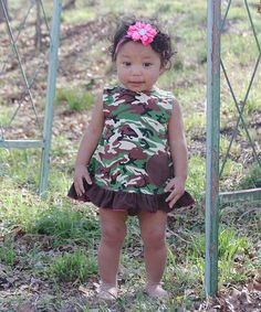 Loving this Brown Camo Swing Top & Diaper Cover - Infant on #zulily! #zulilyfinds