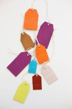 DIY: leather stamped tags