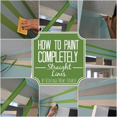 Great Tips for Painting a Straight Line on Your Walls!