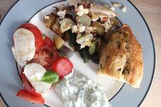 Græsk kylling med foccacia og tzatziki