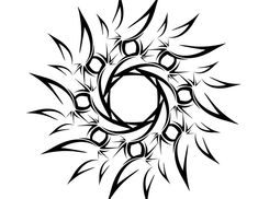 Tribal Sun tattoo