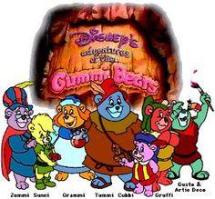 80's cartoons Disney Gummy Bears! Always wanted to try gummy berry juice !