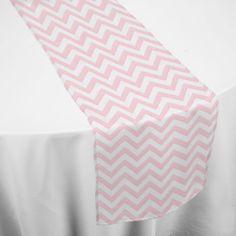 Pink Chevron Table Runner
