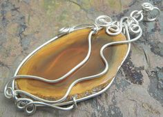 50 off BLOWOUT SALE Canyon Handcut Agate by ThePurpleLilyDesigns, $23.25