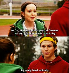 """I try really hard, actually"" Juno (2007) Movie Quotes #juno2007 #moviequotes"