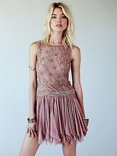 Free People Samantha Embellished Dress