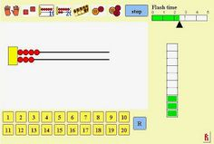Amazing free computer game to work on subitizing and addition facts! Easy to customize.