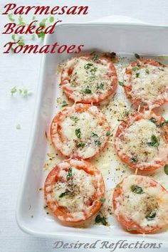 Parmesan baked tomato