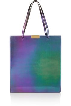 Stella McCartney Beckett holographic faux leather tote $1,145