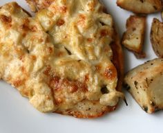 "artichoke crusted chicken...yummy!! I'm pinning this as ""good-for-you"" since it's at least low carb :)"