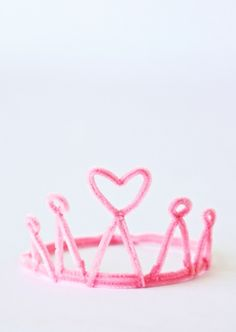 Use this tutorial to make a crown and wand using pipe cleaners.