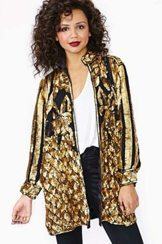 Gold Party Sequin Blazer