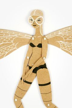 Dragonfly Articulated Paper Doll by Dubrovskaya. by dubrovskaya