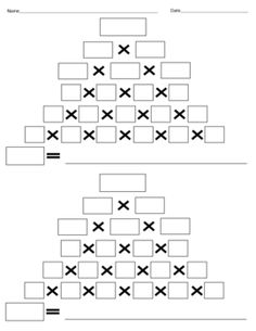 Here's a graphic organizer to help students learn the procedure for prime factorization.