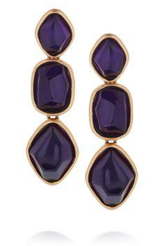 ODLR Deep Purple Clip Earrings - $135